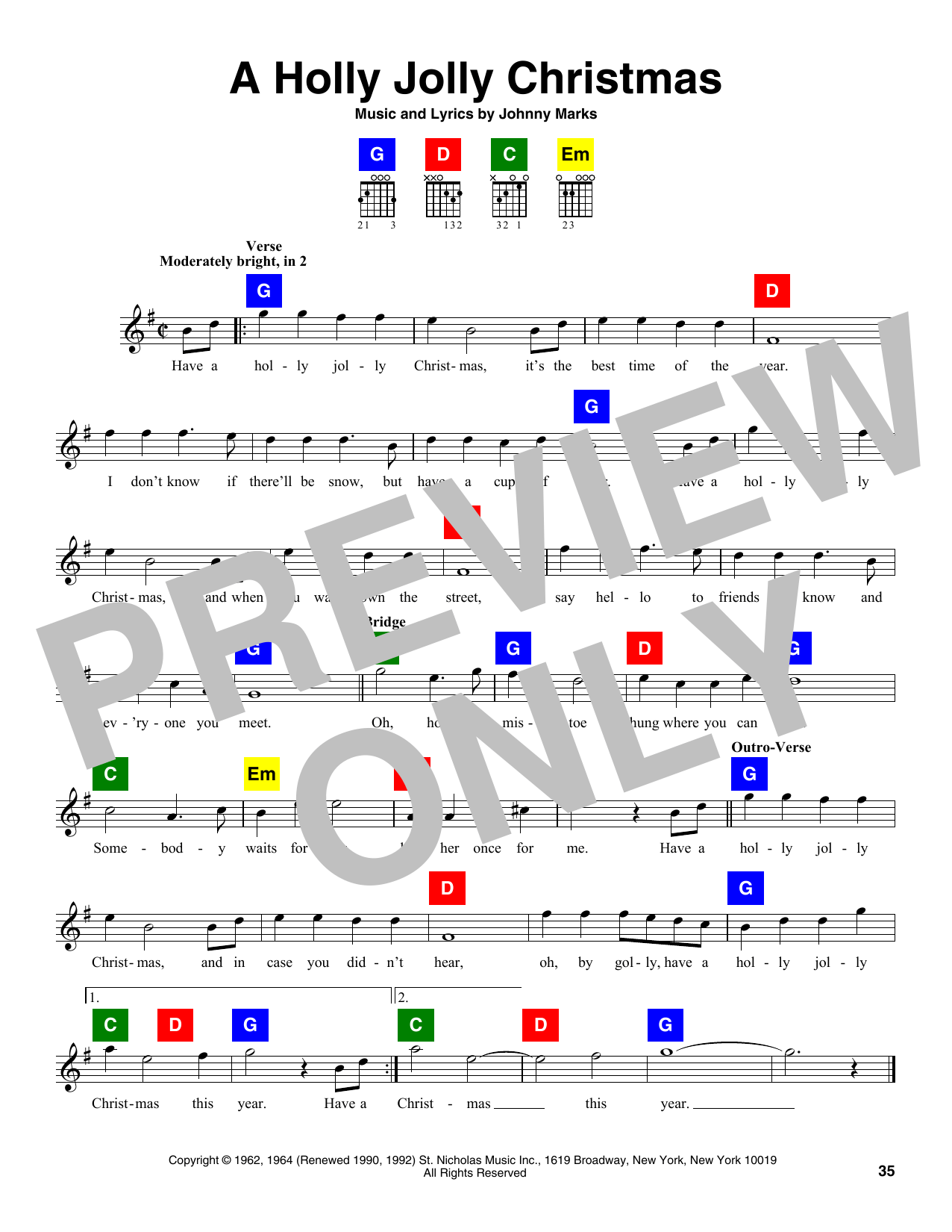 A Holly Jolly Christmas Clarinet Notes