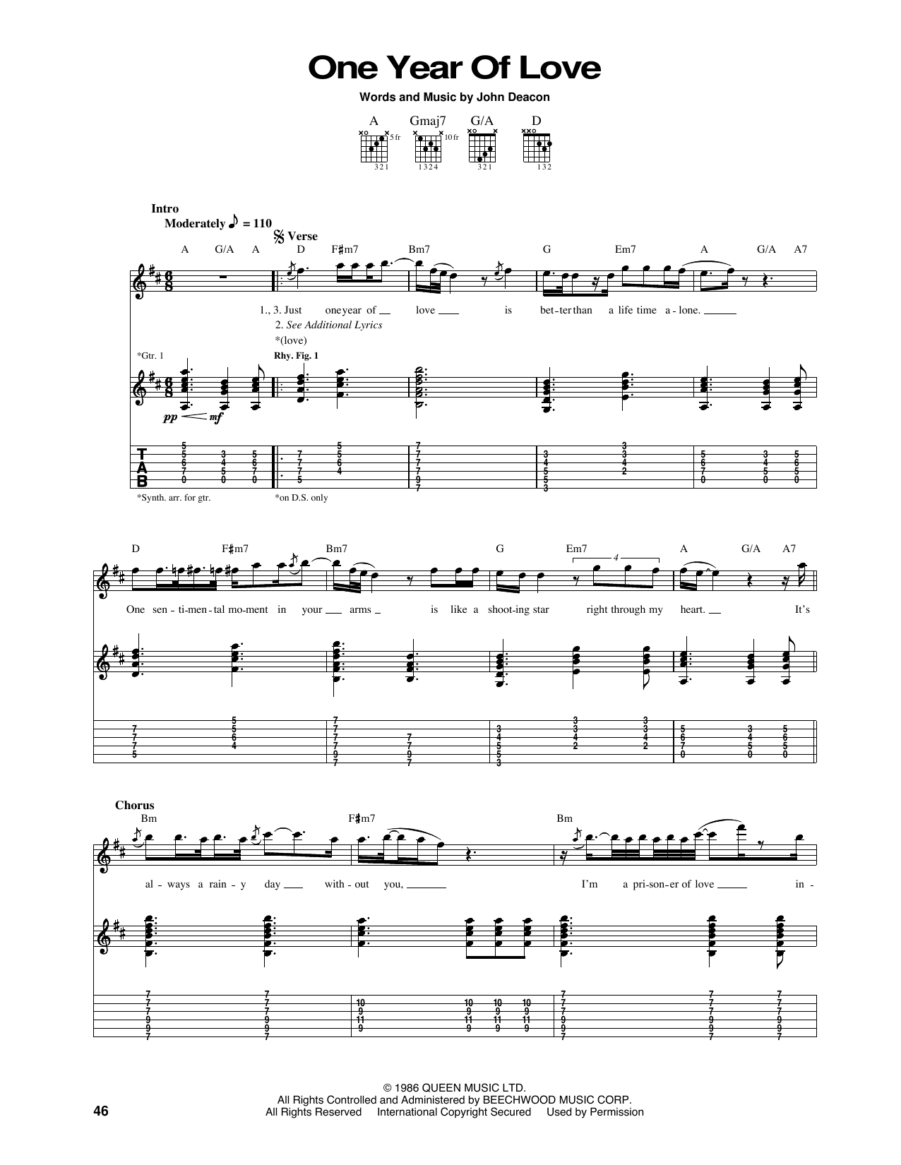 Years Love Sheet Music
