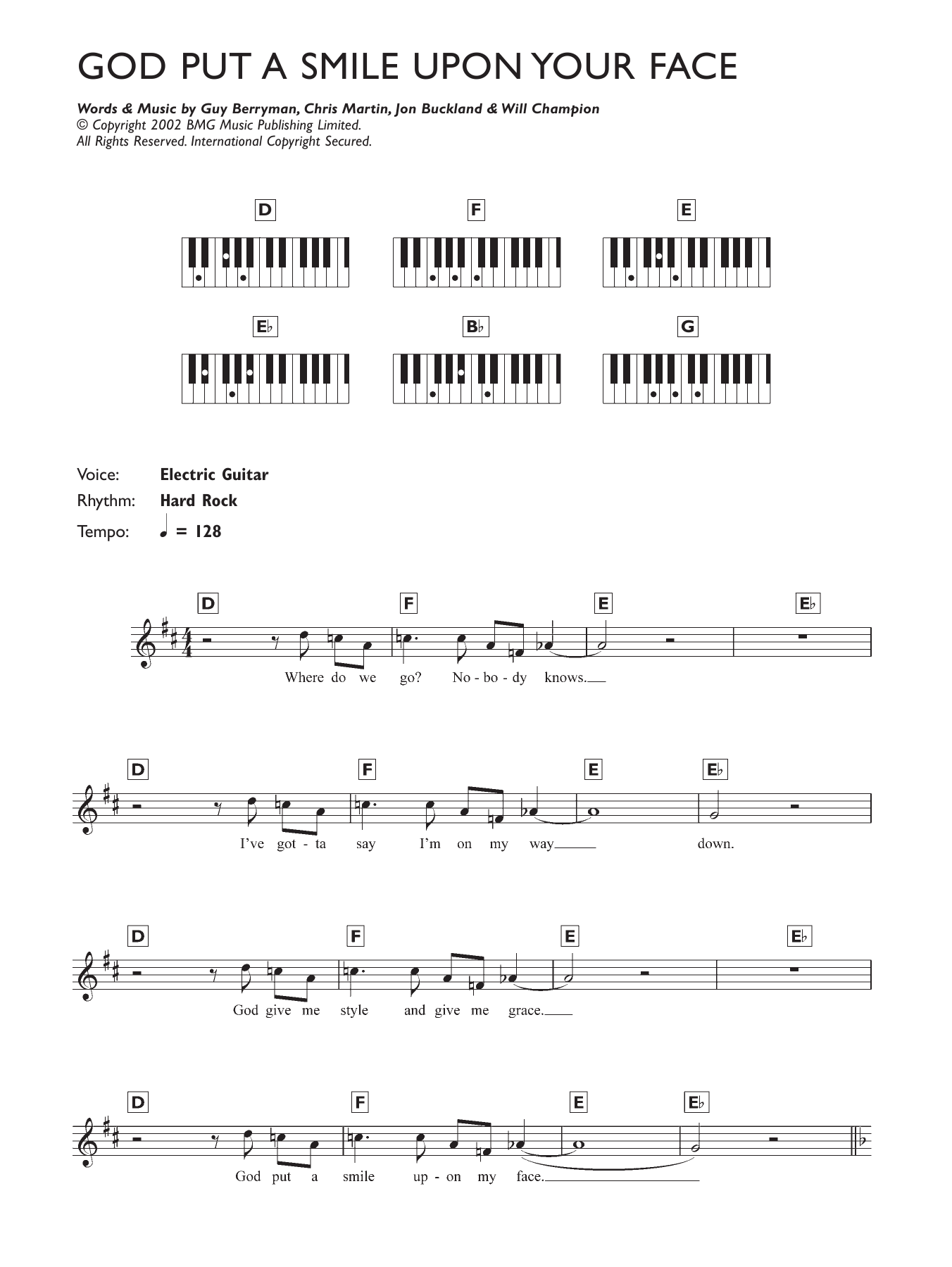 God Put A Smile Upon Your Face Sheet Music
