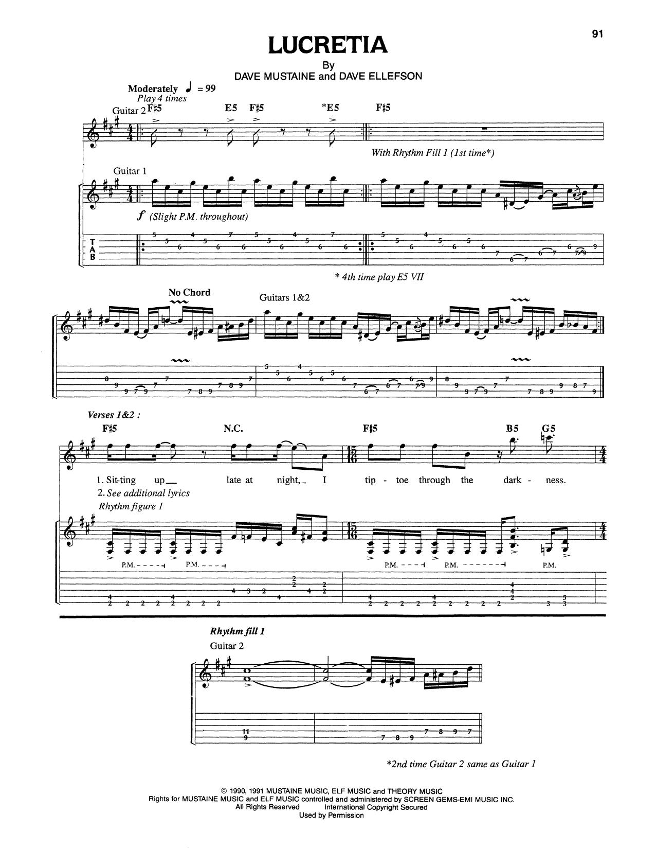 Lucretia By Megadeth