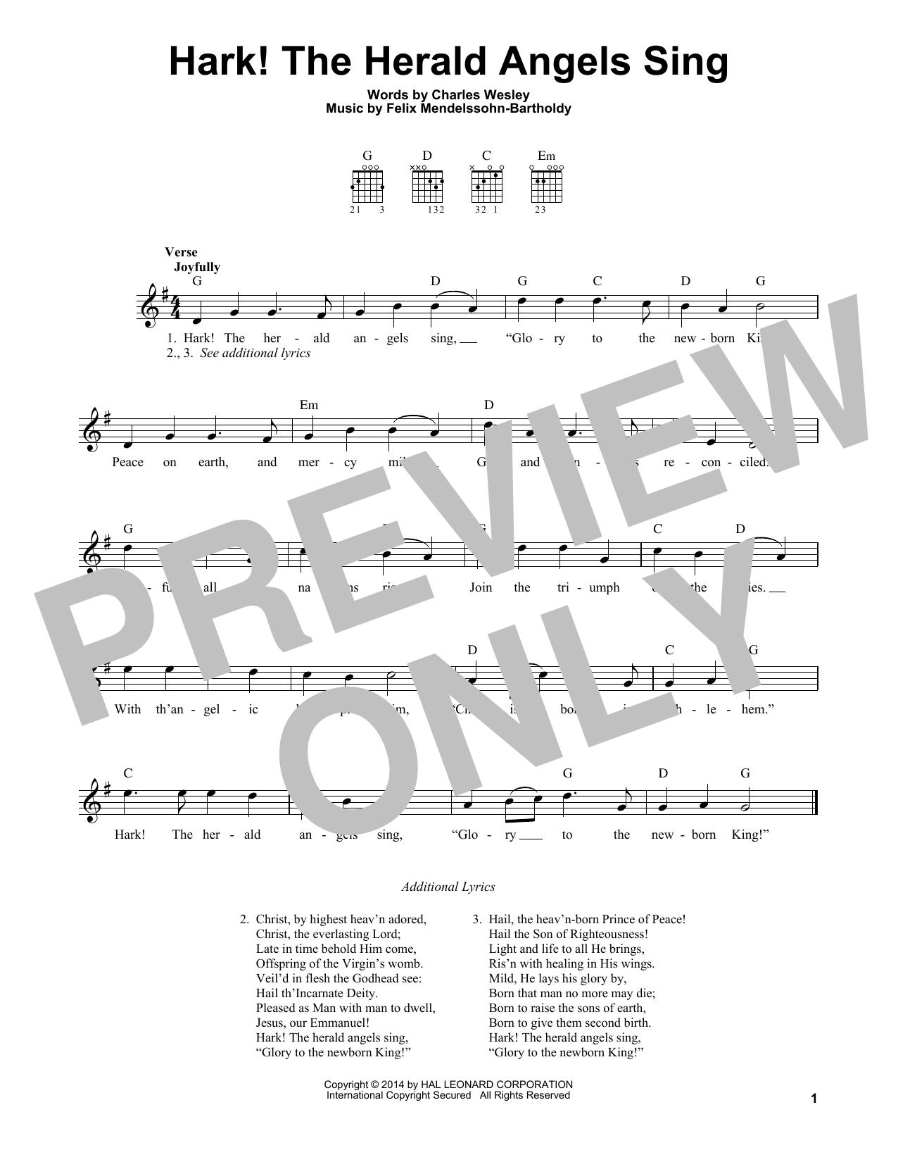 Hark The Herald Angels Guitar Chords