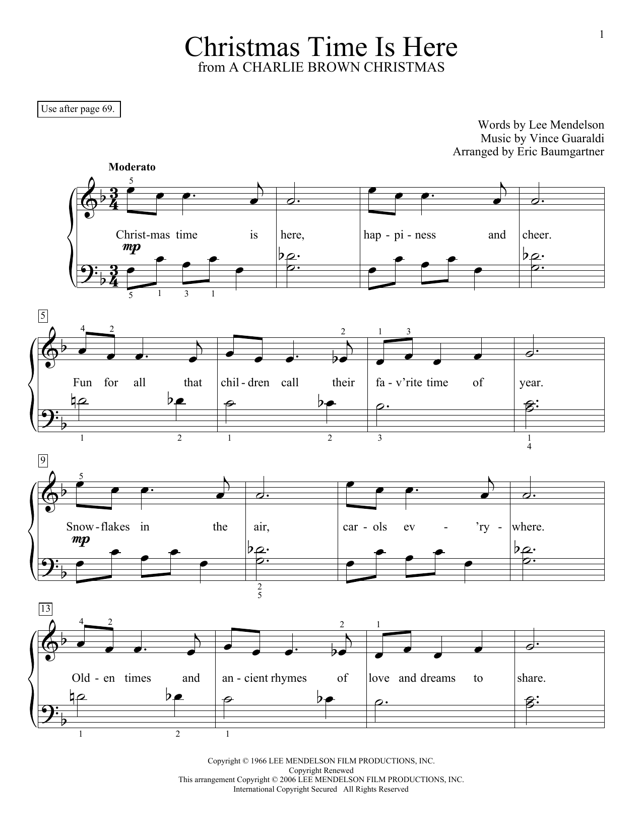 Guitar Chords Sheet Music Wonderful Christmas Time