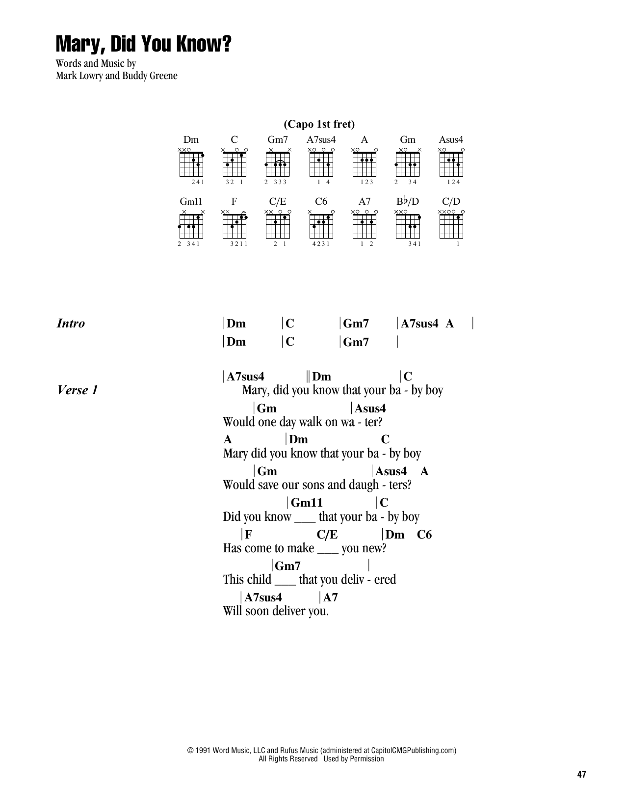 Did Know Mary Beginner Music Sheet You