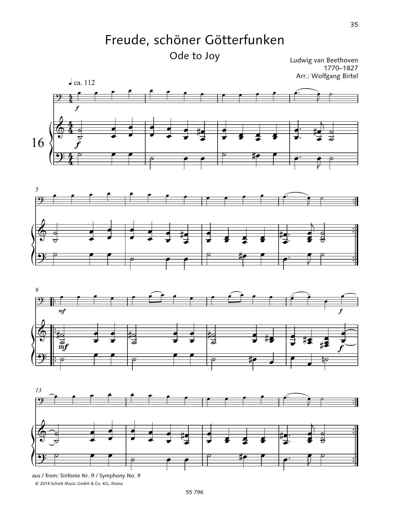 Ode To Joy Sheet Music