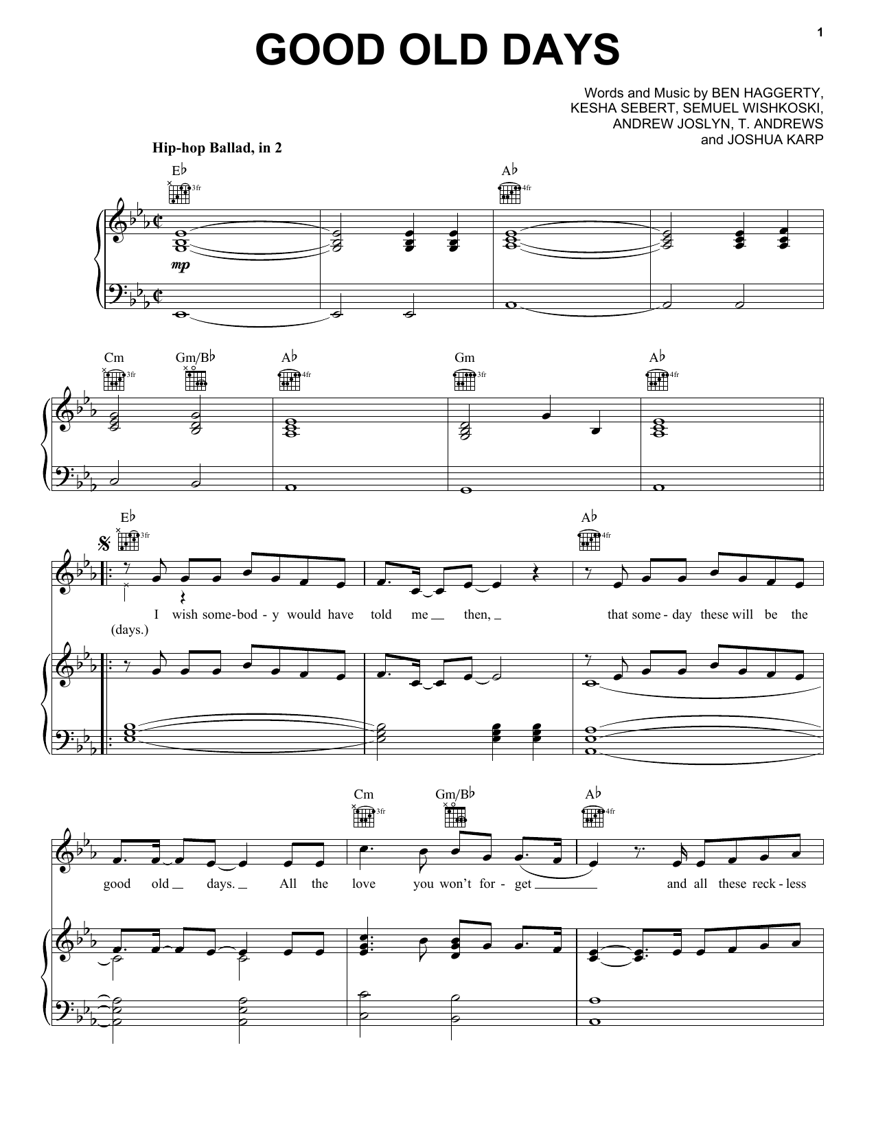 Easy Piano Sheet Music Macklemore