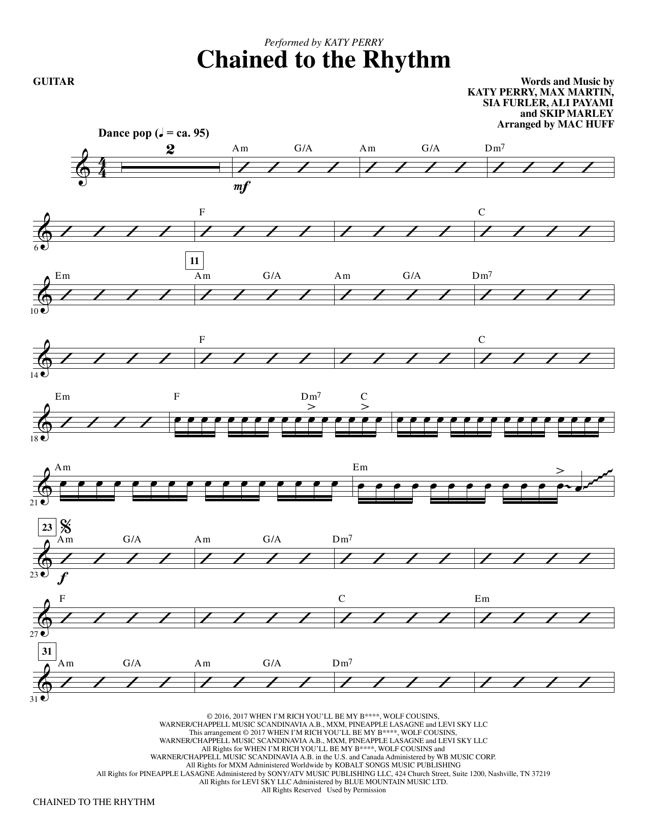 Chained To The Rhythm Piano Sheet Music Free