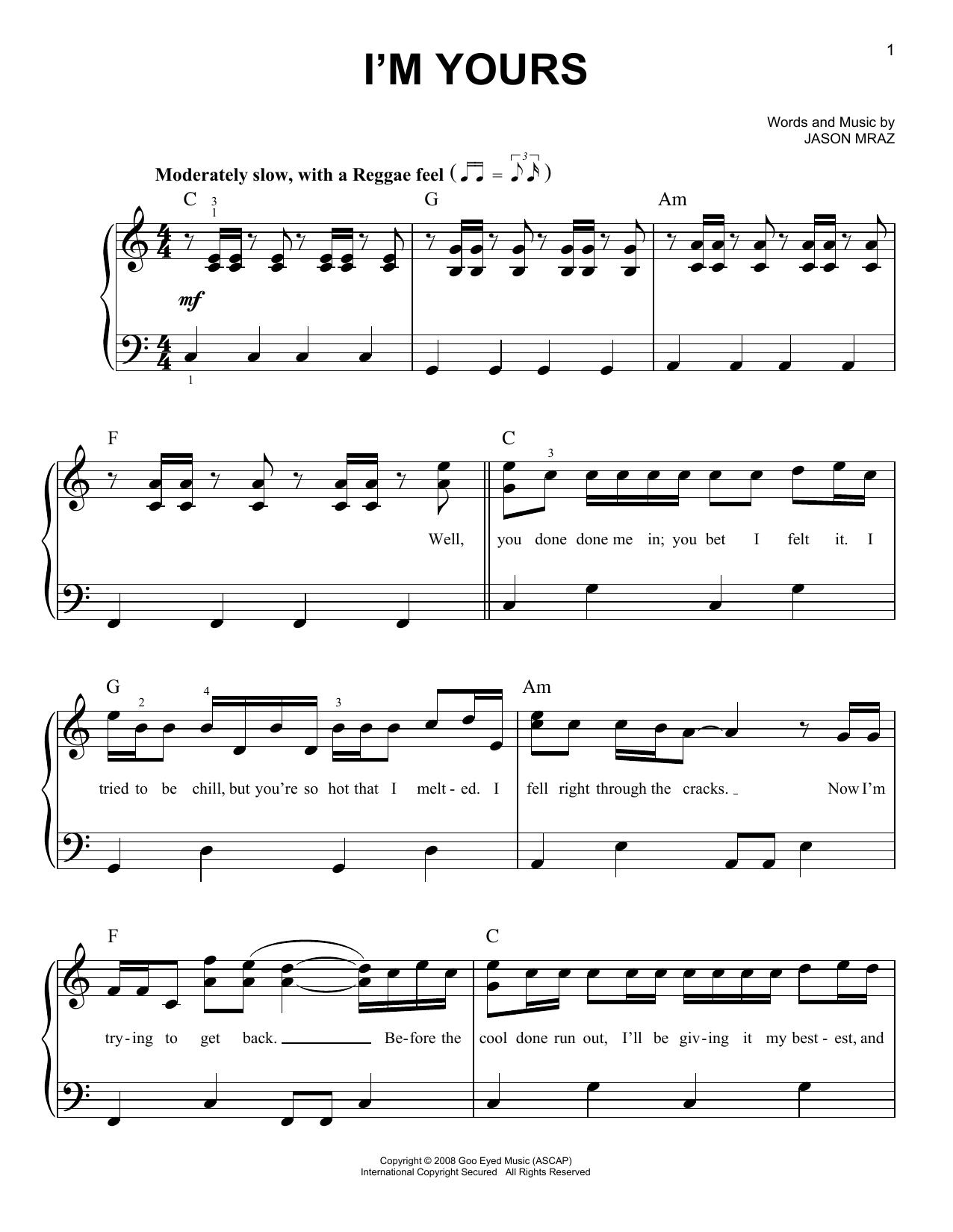Im Yours Guitar Chords Beginner