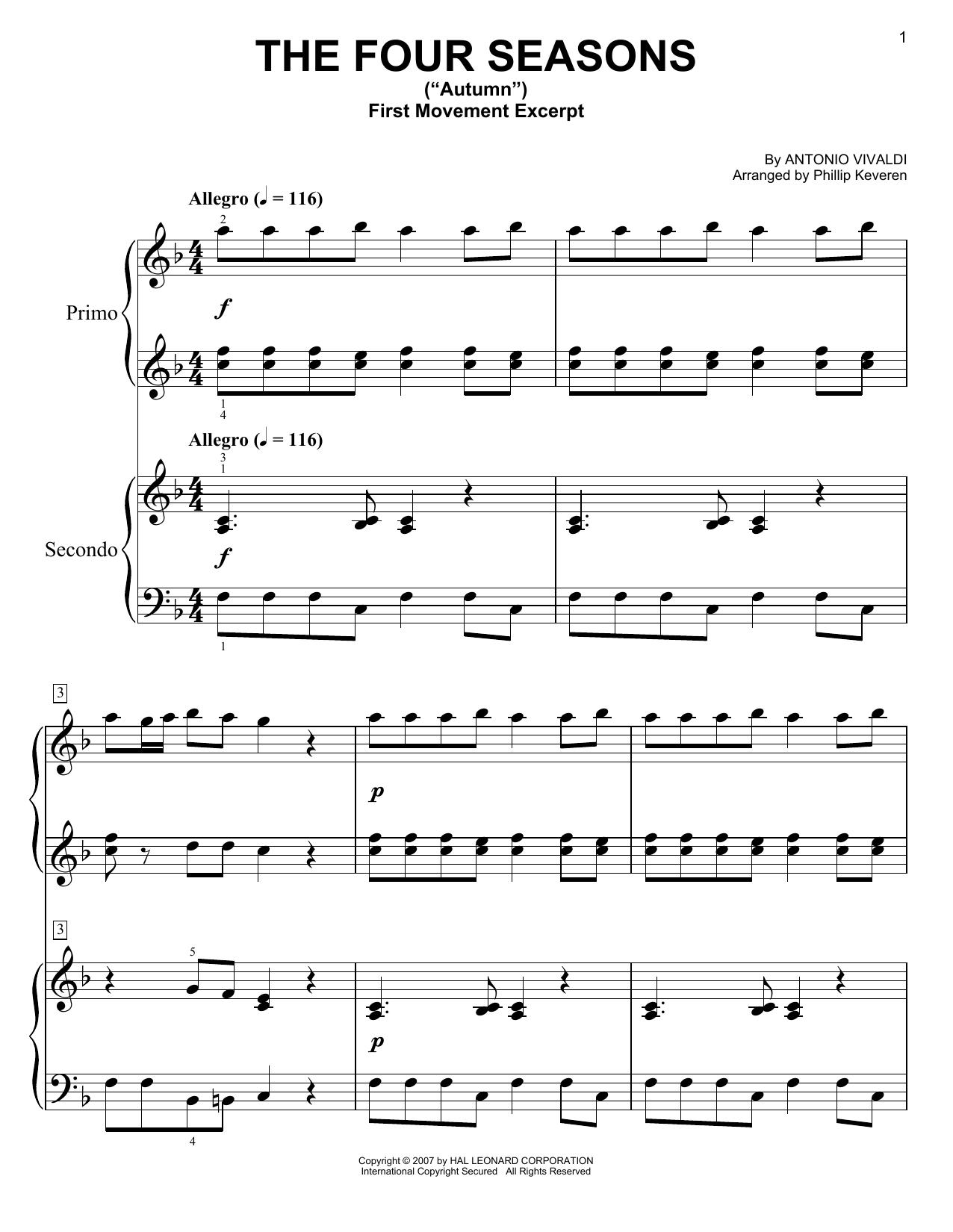 The Four Seasons Autumn Sheet Music