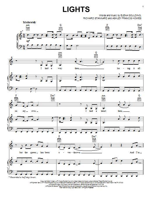 Ellie Goulding Lights Chords Guitar | Centralroots.com