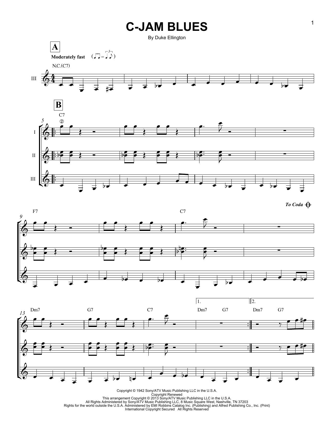C Jam Blues Sheet Music