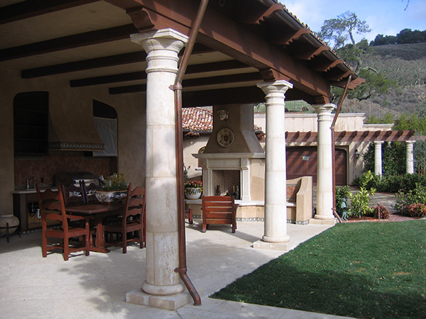 Cantera stone columns hand carved natural stone for Cantera pillars