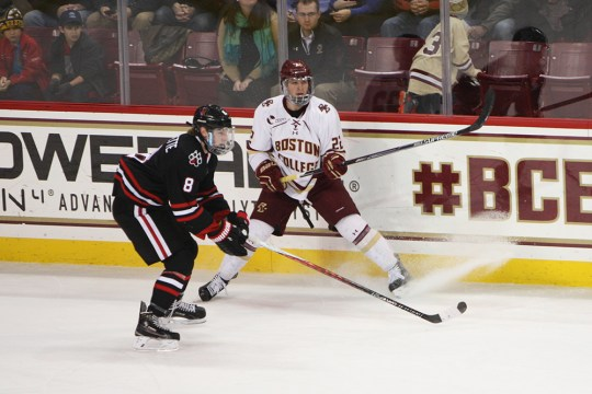 Tensions Flare In Eagles' Tie With Northeastern