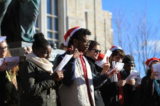 To Raise Awareness Of Racism, Protesters Sing Alternative Christmas Carols
