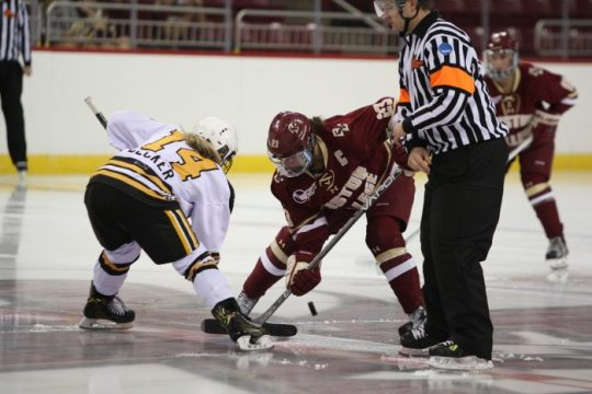In Exhibition Against NWHL's Pride, Women's Hockey Breaks in Players in New Roles