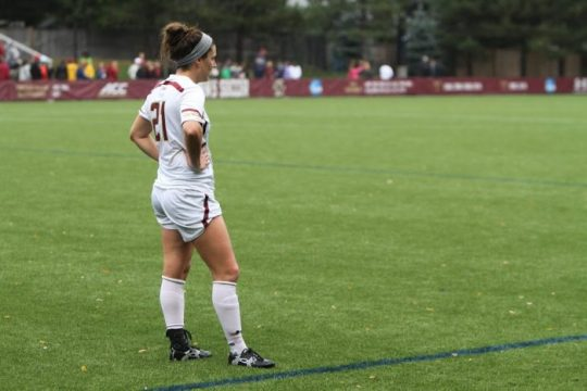 Goals by Meehan, Carriero Not Enough for BC at Virginia