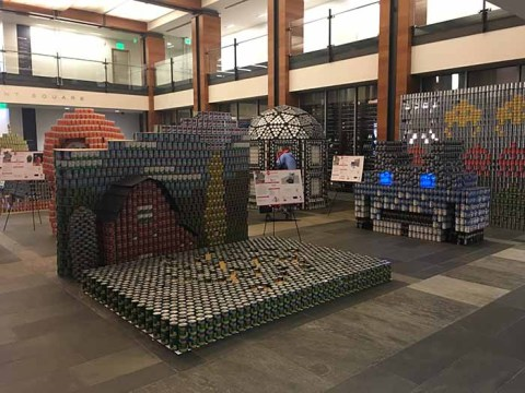 At Canstruction, Boston Architects Transform Cans Into Art