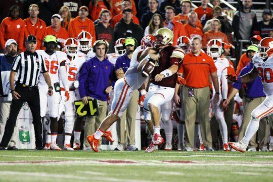 No. 3 Clemson Throttles Boston College Football on Red Bandanna Night