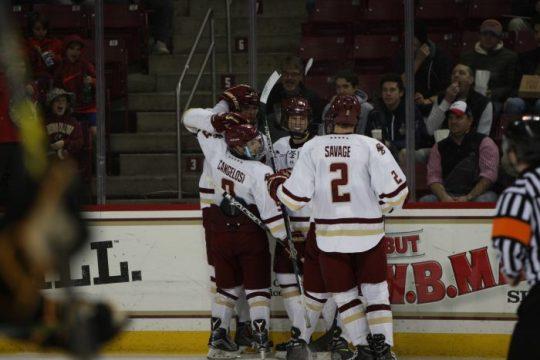Behind Onslaught of Shots, Men's Hockey Downs Arizona State