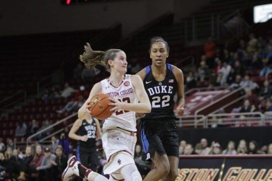 Despite Hughes's Record, Women's Basketball Crushed by Duke
