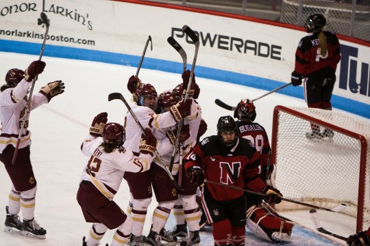 BC Rides Another Strong Third Period, Repeats as Beanpot Champions