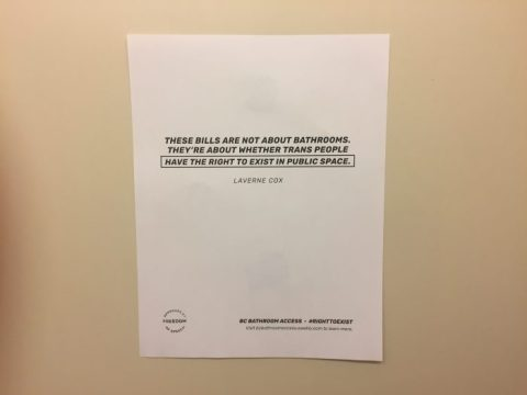 UGBC Resolution Supports All-Gender Bathrooms as Poster Campaign Launches