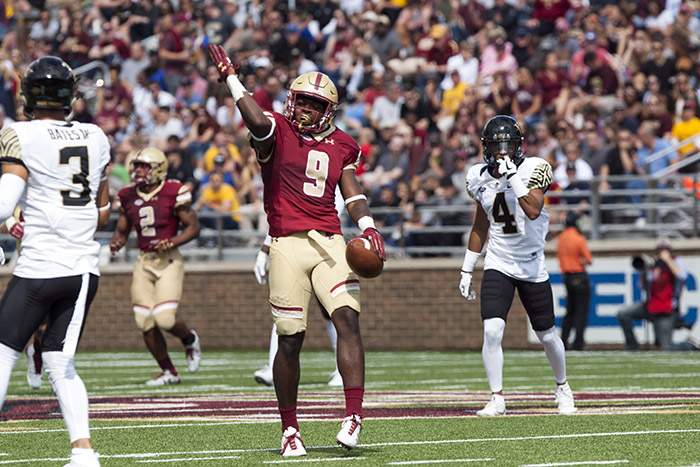 Brown Throws Three Interceptions, Wake Forest Routs Eagles