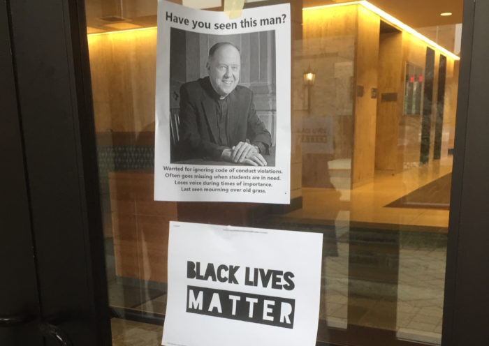 Posters Criticizing Leahy Appear Around Campus