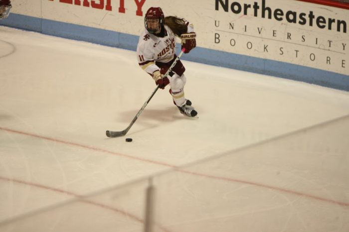 Lonergan's Hat Trick Lifts BC Over Vermont
