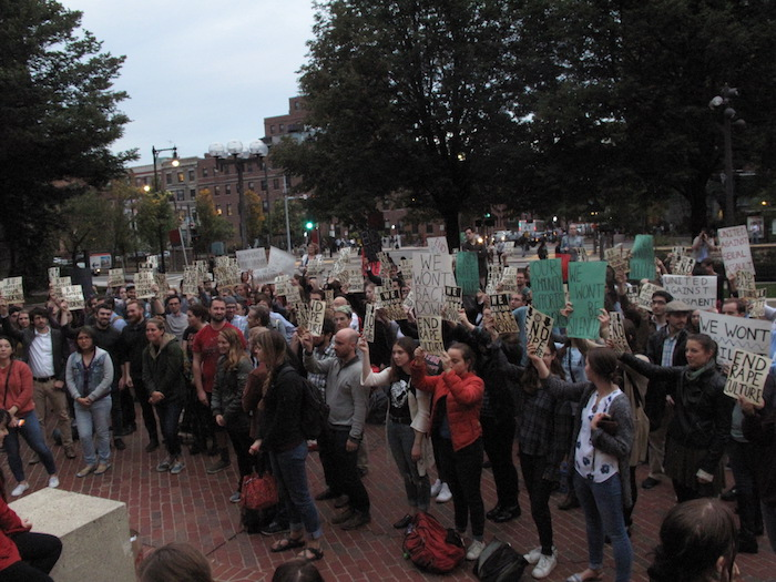 BC Students Join BU Grad Student Rally Against Sexual Assault