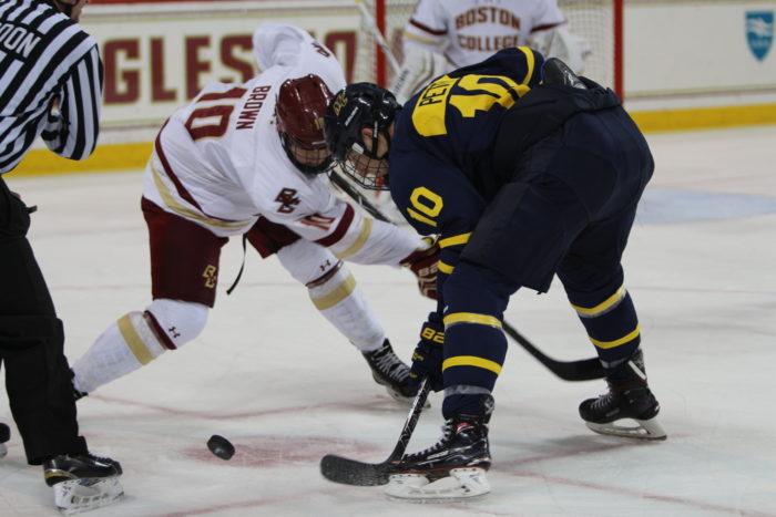Men's Hockey Snaps Losing Streak With Win Over Merrimack