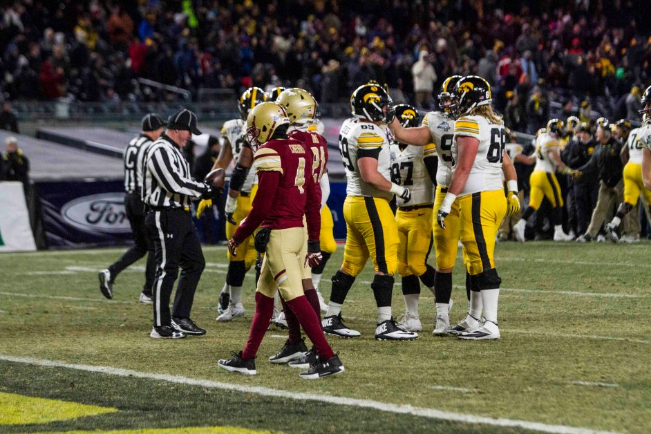 Against Iowa, Turnovers Cost Eagles Pinstripe Bowl