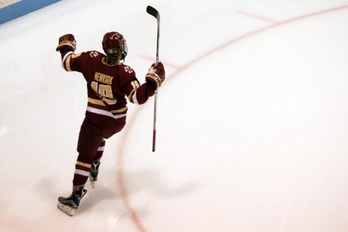 Watts, Newkirk Lead Women's Hockey Past Terriers