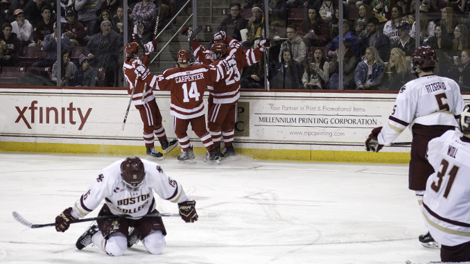 After Hot Start, Men's Hockey Falls Apart in Second Period Against Terriers