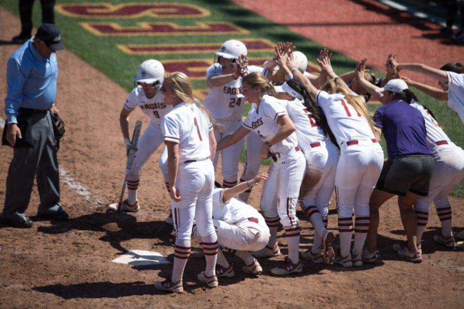 Martinez Powers Eagles to First Series Win Against Notre Dame Since 1998