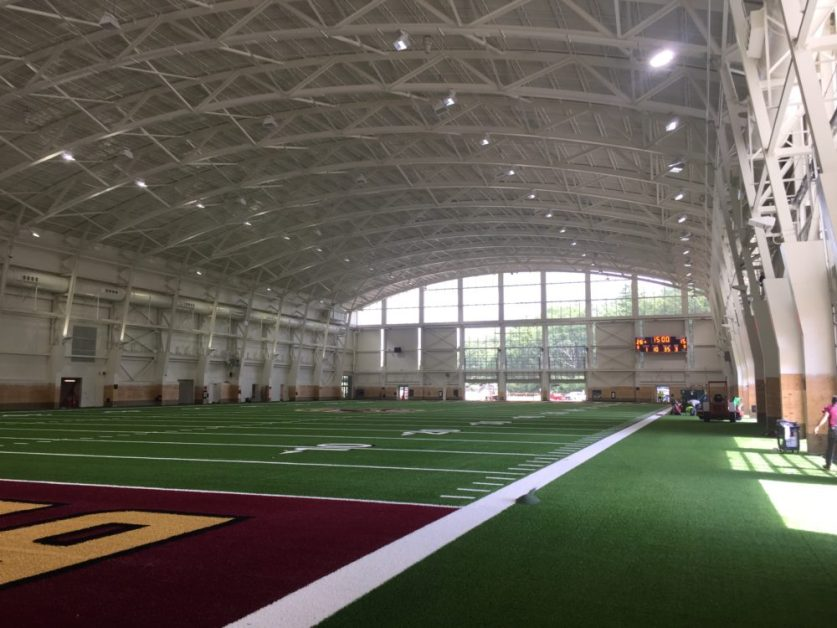 New Indoor Practice Facility Named After University Trustee John Fish