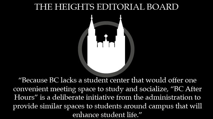 """Editorial: """"BC After Hours"""" is Positive Initiative for Student Life"""