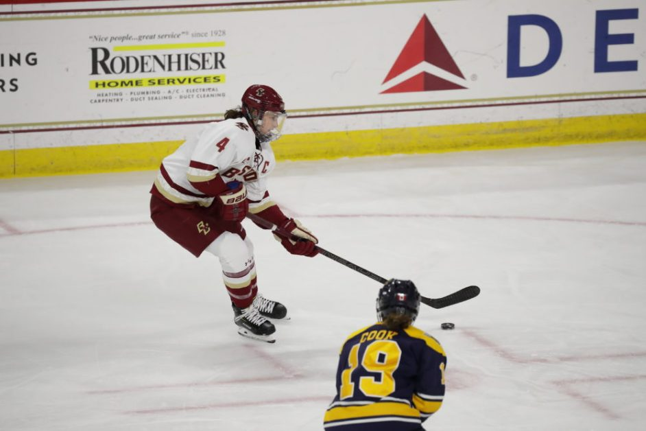 Eagles Open Hockey East Play With Convincing Win Over Merrimack