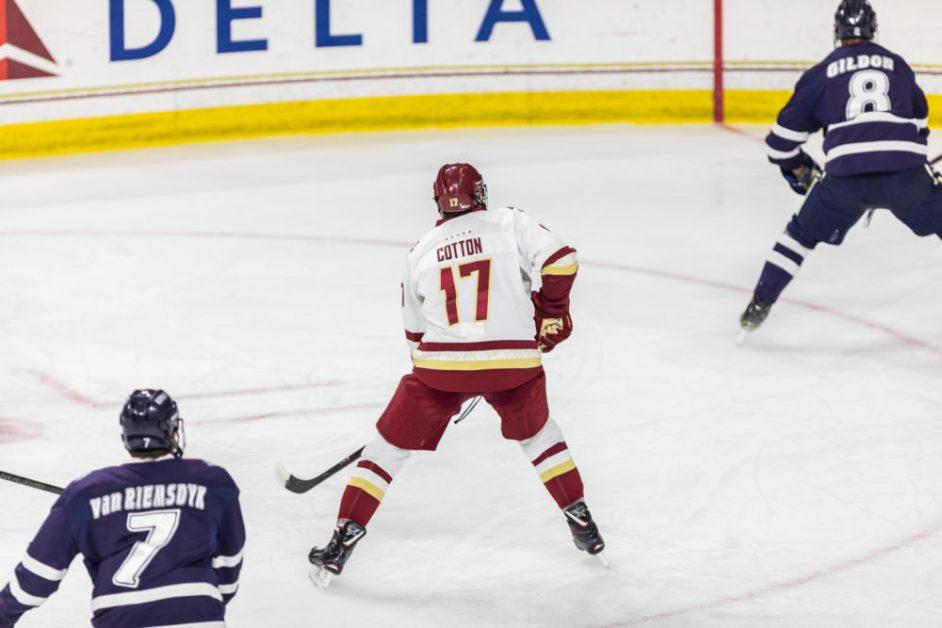 Men's Hockey Overcomes Sloppy Start, Ties New Hampshire