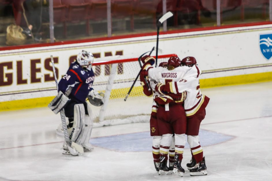 Eight Players Record Points as BC Avenges Postseason Loss to UConn