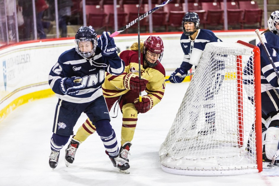 Eagles Squander Two-Goal Lead, Tie UNH in Final Regular Season Game