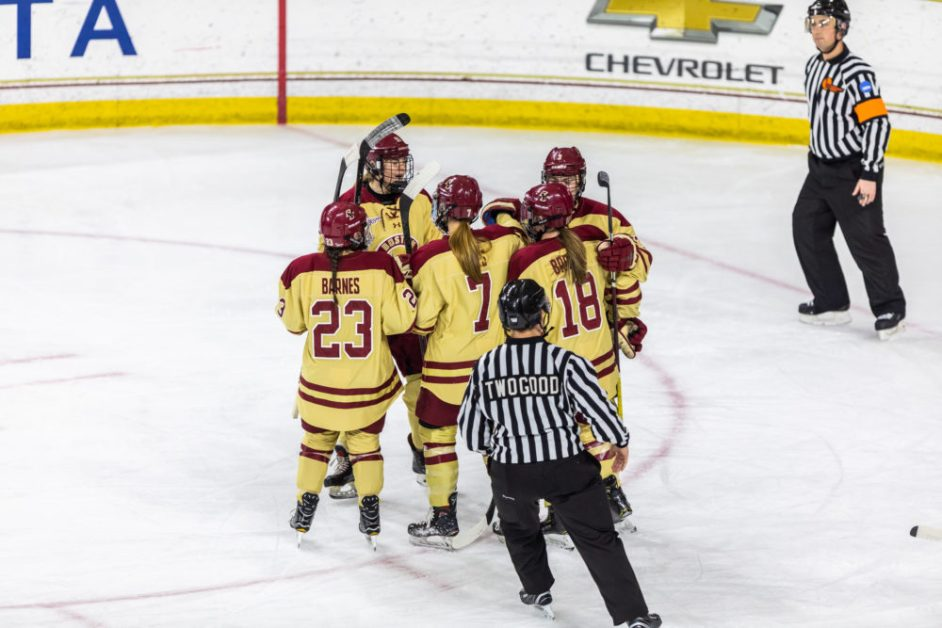 Eagles Respond to Beanpot Defeat With Rout of New Hampshire