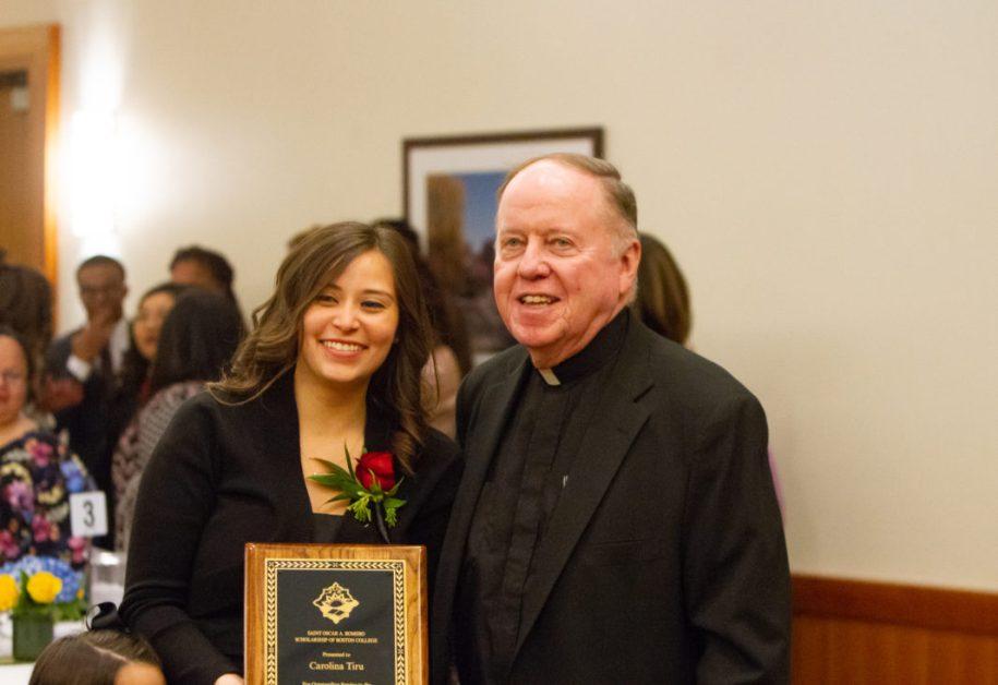 Carolina Tiru, MCAS '20, Awarded Romero Scholarship
