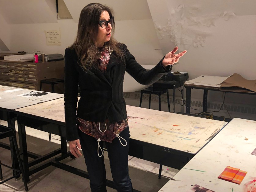 Artist Michelle Fornabai Demonstrates Work With Concrete