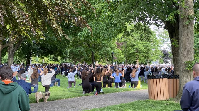 Protestors Gather in Franklin in Solidarity With George Floyd