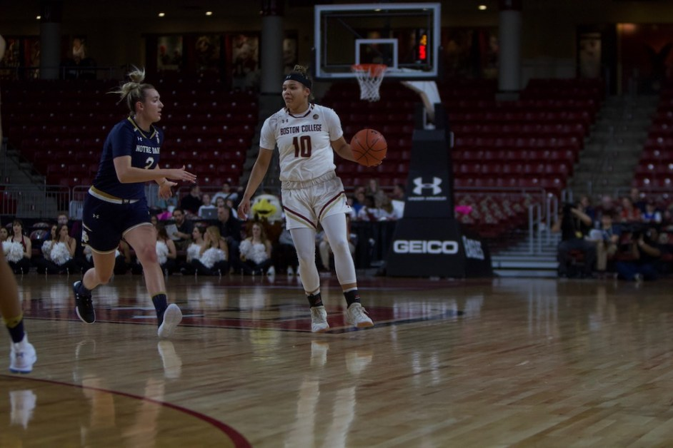 Eagles End Game on 16-1 Run to Beat Irish, Notch First ACC Win