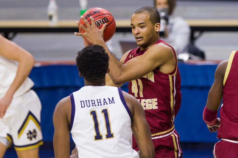 Mitchell's Double-Double Isn't Enough in 80-70 Loss to Notre Dame