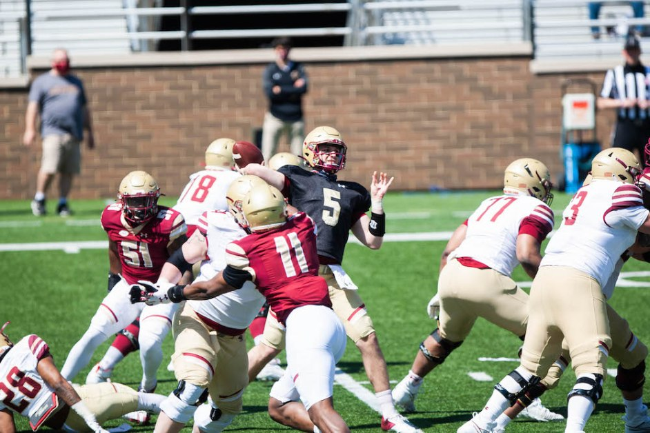 Flowers, Young Pass Catchers Star In Spring Game