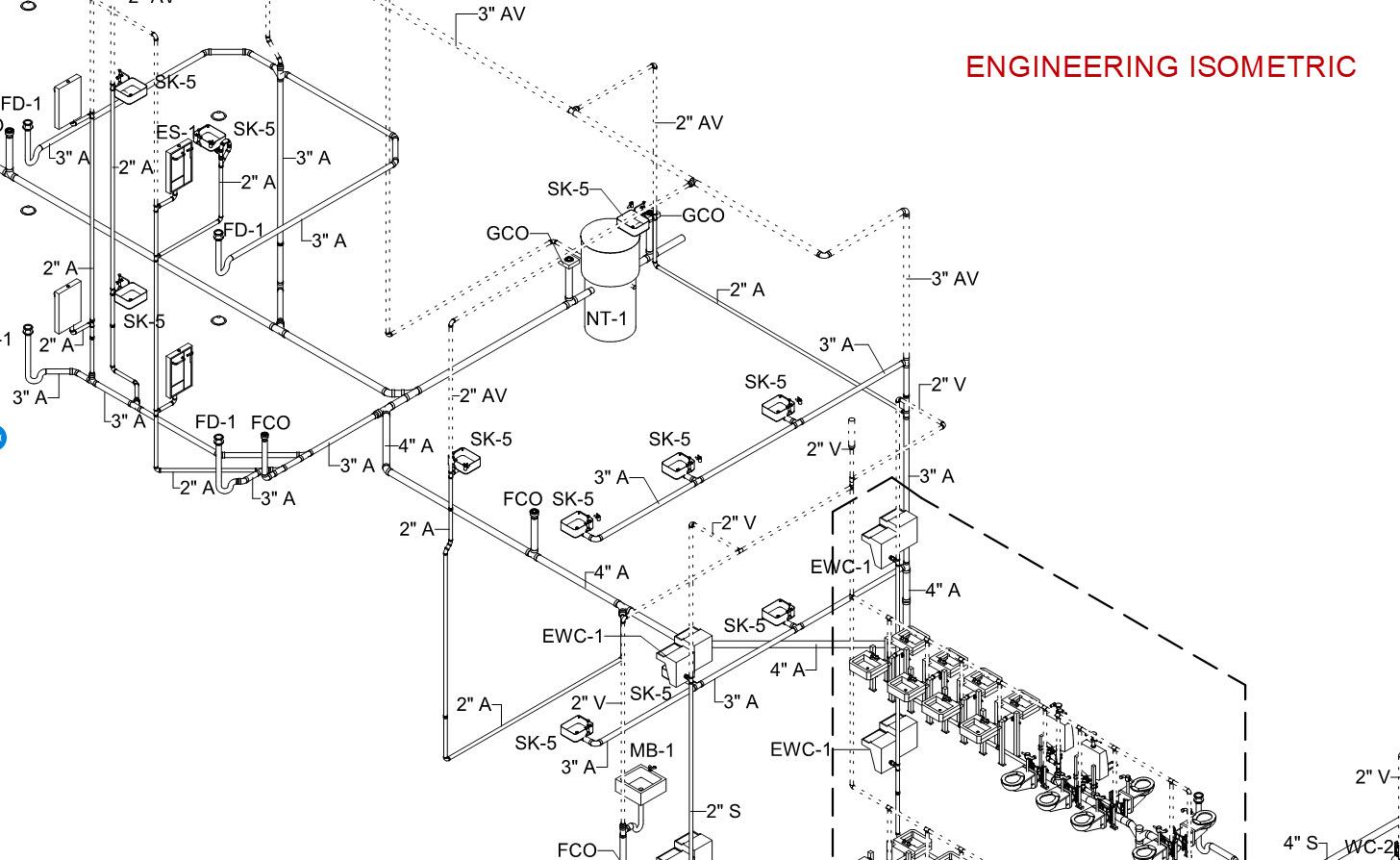 Revit Sanitary Isometrics