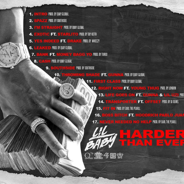lil baby harder than ever tracklist