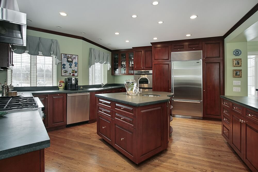 43 Kitchens with Extensive Dark Wood Throughout on Maple Kitchen Cabinets With Dark Wood Floors Dark Countertops  id=99843